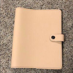 Original Filofax A5 Planner Patent Leather Nude